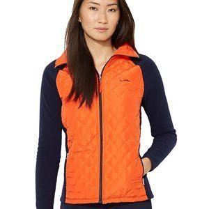 Ralph Lauren Orange Quilted & Fleece Jacket 3XL
